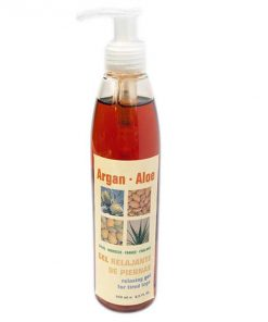 Argan Aloe gel piernas cansadas